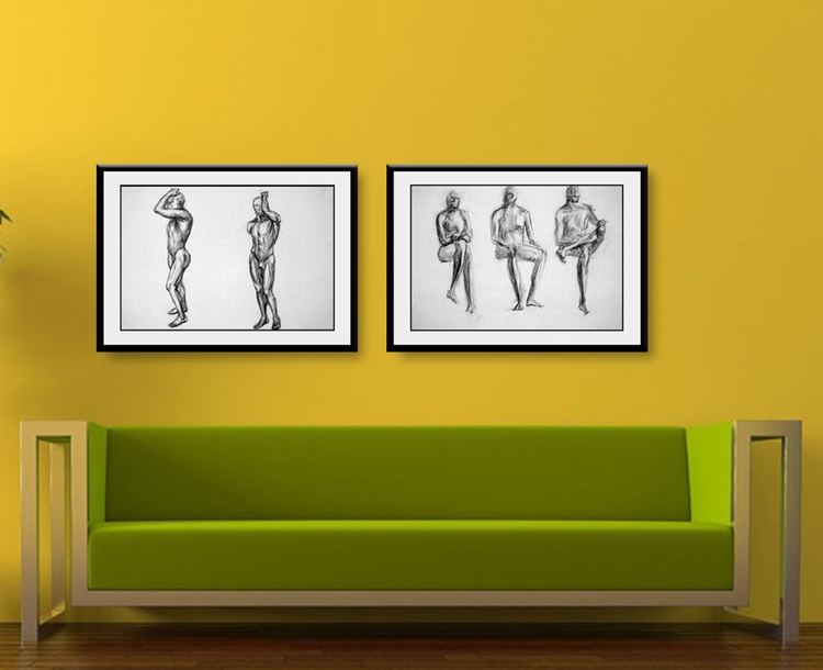 Figure drawing 1 + Figure drawing 2 | Combo offer - Image 0