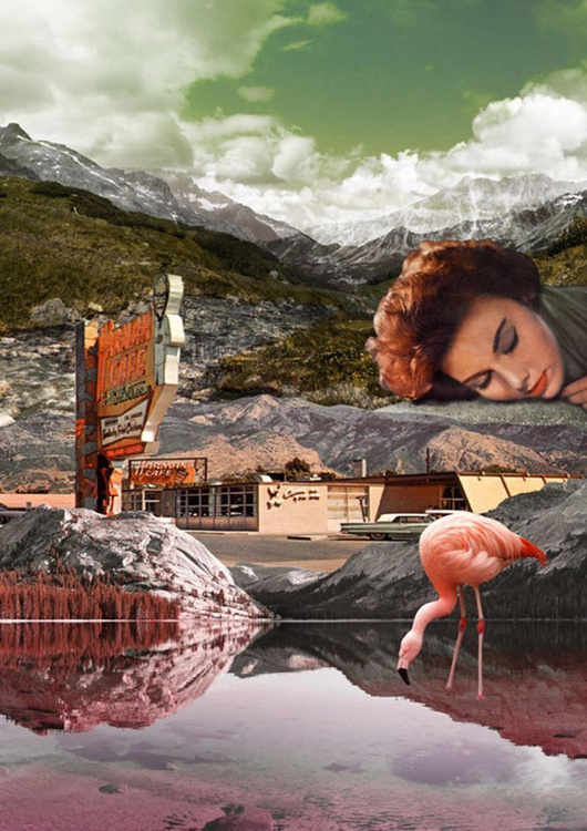 WELCOME TO MOTEL FLAMINGO - Limited Edition on Aluminium (2 of 5) - Image 0