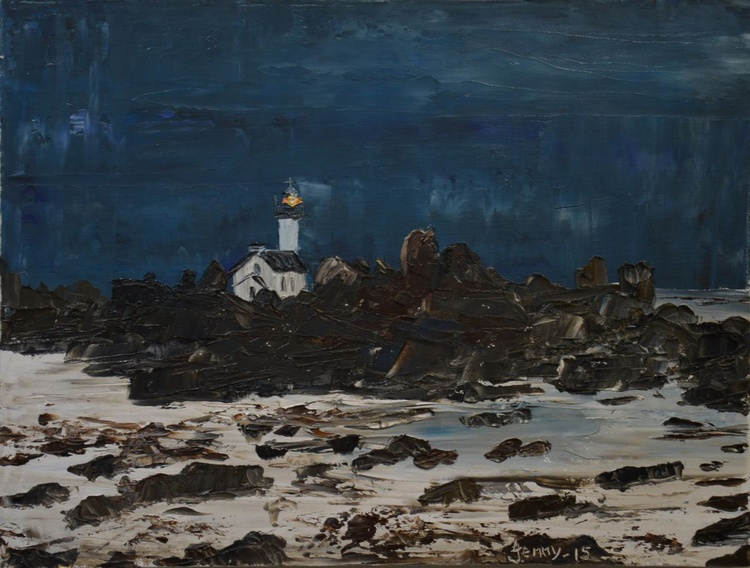 Dark Falling On Last Night Lighthouse - Image 0