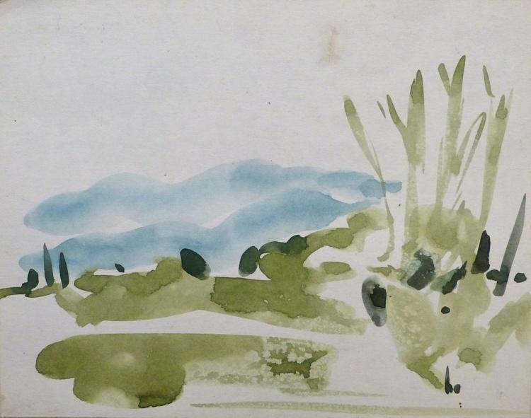 Fresh Green Landscape, 30x23 cm - Image 0