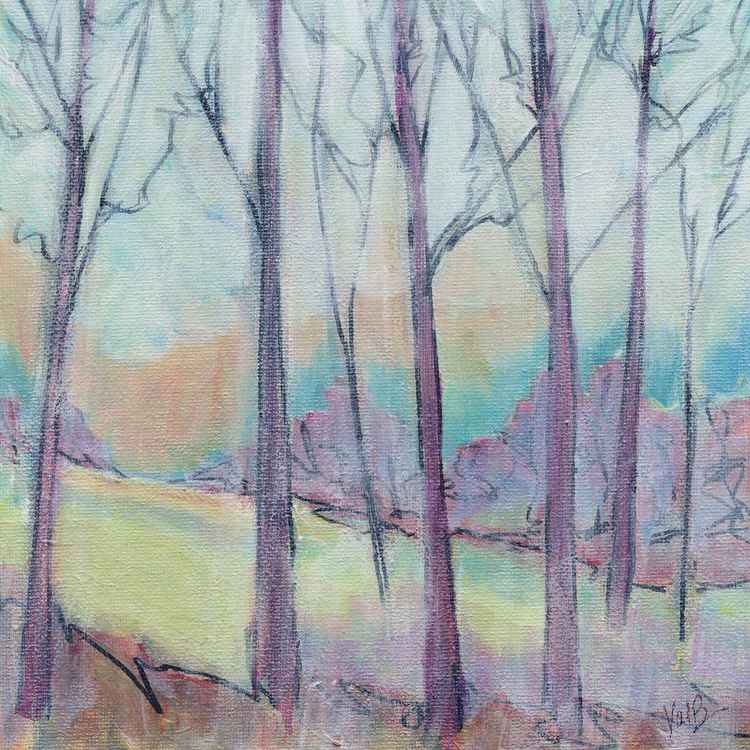 Tree Line 76 - Glazed Sketch 2 -