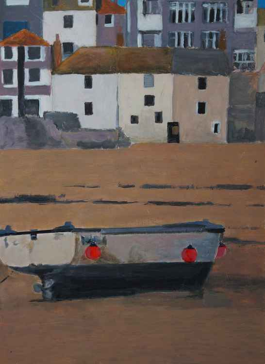 Harbour boat, St Ives. -