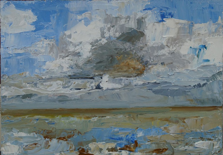 Blustery Sky at Whitstable - Image 0