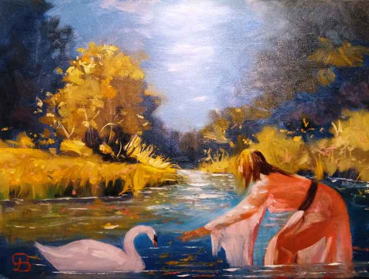 Lady and the swan -