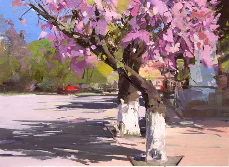 Landscape Painting- Shadow of Spring