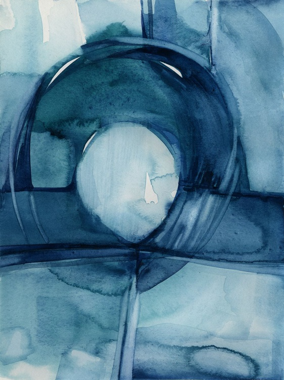Finding Tranquility 8 - Abstract Zen Watercolor Painting - Image 0