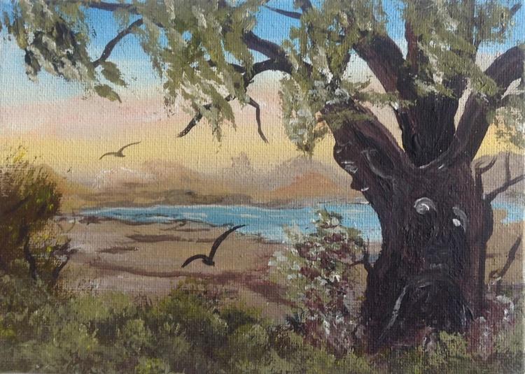 Tree spirits on a mini canvas - Image 0