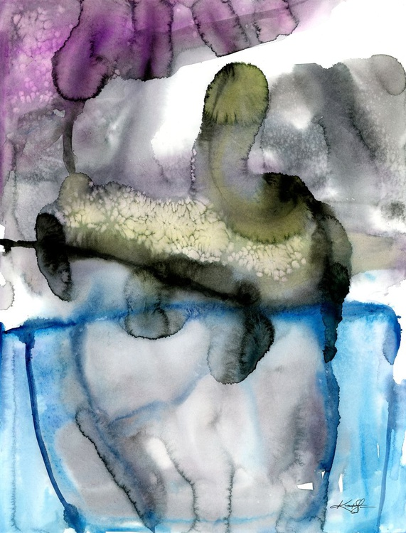 Finding Tranquility 13 - Abstract Zen Watercolor Painting - Image 0