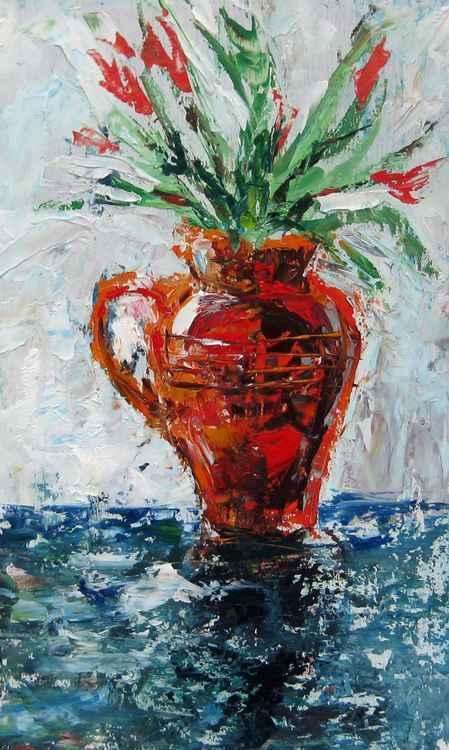 Vase of tulips -