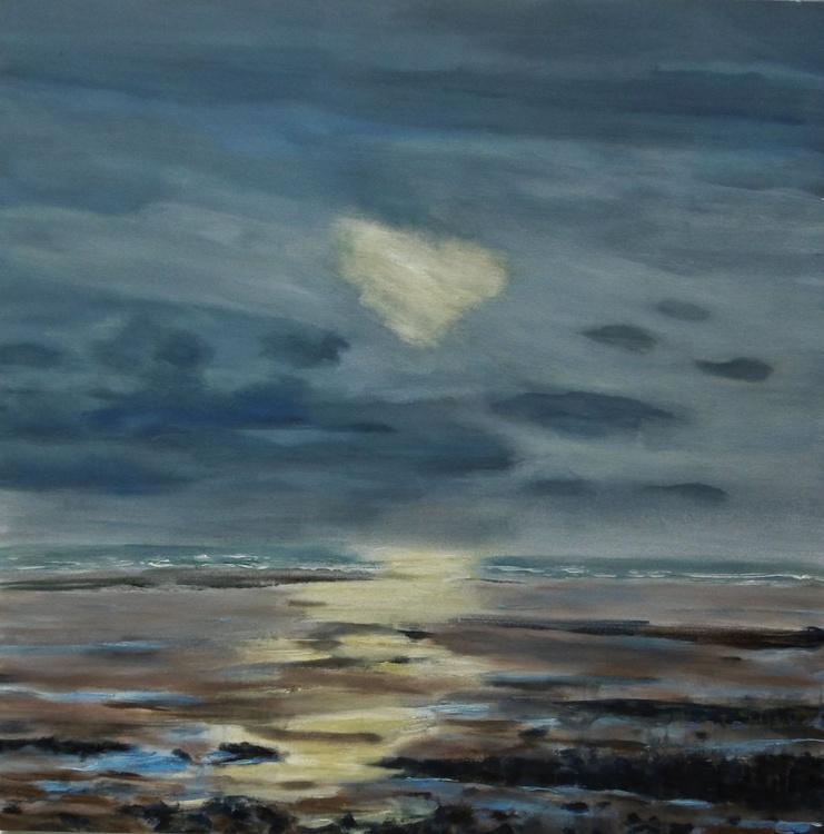 'Light Breaking Through, Autumn' Large Canvas - Image 0
