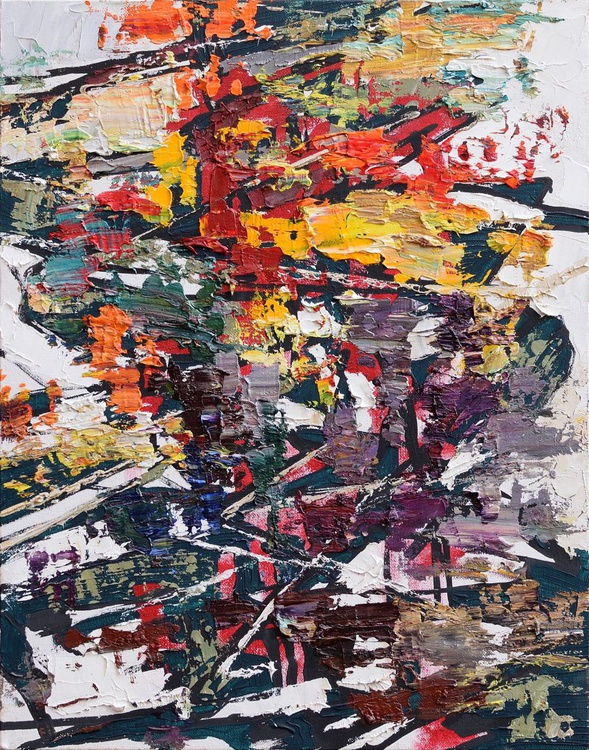 Autumn Abstract painting - Image 0