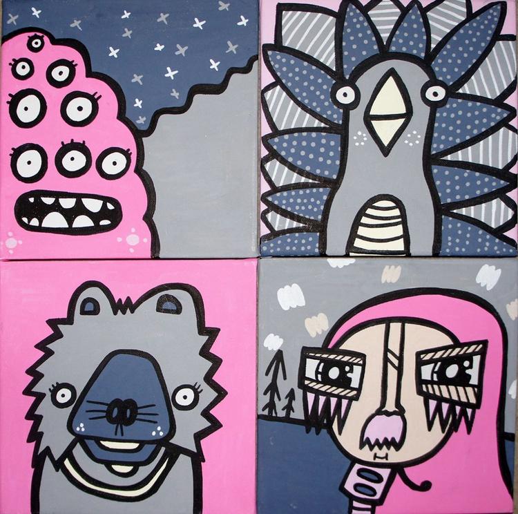 Pink Quadriptych - Image 0