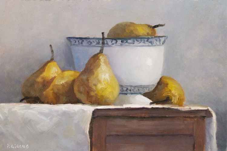 Pears and a Bowl -