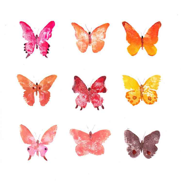 Nine Butterflies 2121RO1