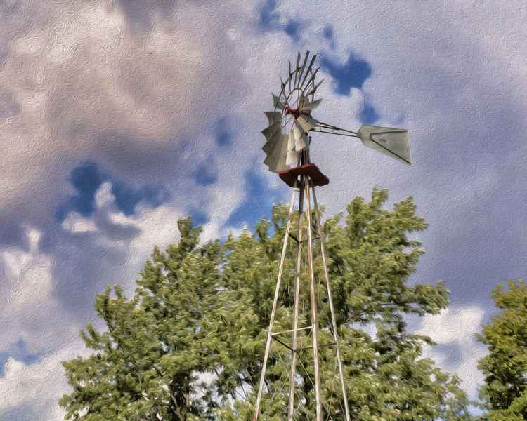 Windmill on the American Prairie