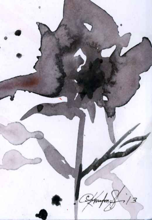 Brushstroke Floral No. 11 - Minimalist Abstract -