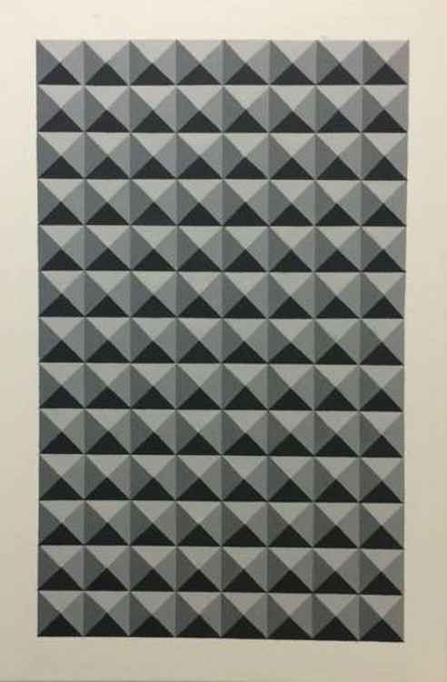Original Geometric Canvas Painting