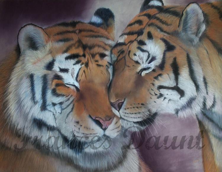 But Never Doubt I Love, large framed pastel artwork - Image 0