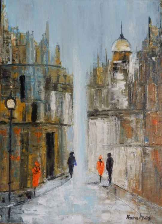 Frozen street -