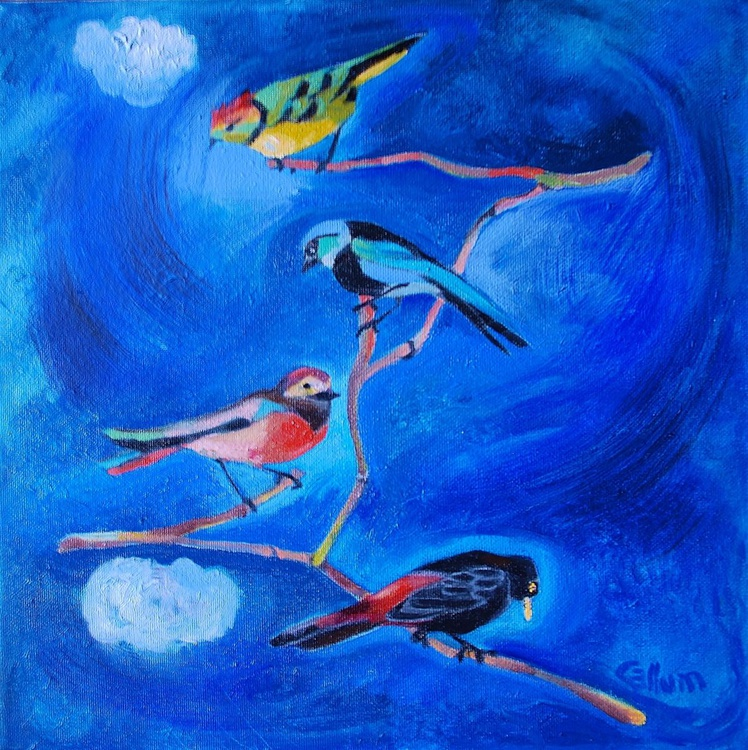 Band of beautiful birds - Image 0