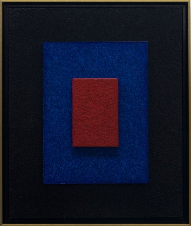 CINNABAR DREAMS - Framed - 3D Modern / Minimalist Abstract Painting / Construction - Image 0