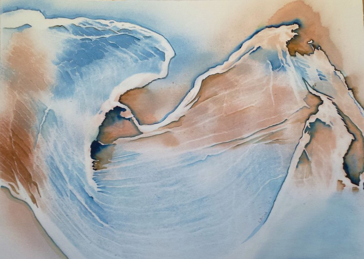 "flowing free-form abstract watercolor title ""Rhapsody"" - Image 0"