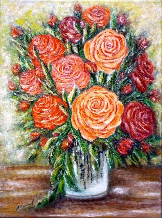 Rose in a vase.. - Image 0