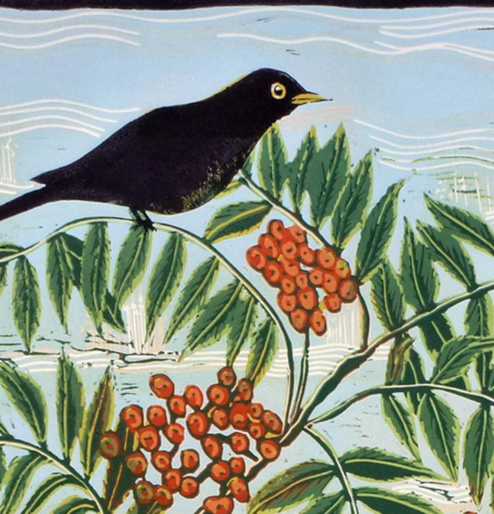 Sing Blackbird Sing, linocut reduction - Image 0