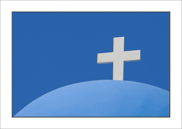From the Greek Minimalism series: Greek Architectural Detail (Blue and White) # 16, Santorini, Greece - Image 0