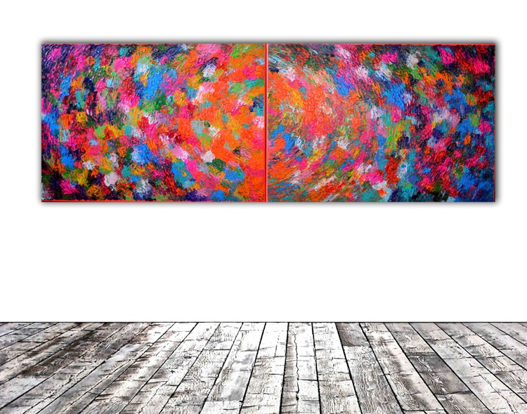 Belly Gypsy Dance - 200x70 cm REDUCED PRICE TILL 20 OCT.  XXXL Large Modern Abstract Big Painting - Ready to Hang, Office, Hotel and Restaurant Wall Decoration - Image 0