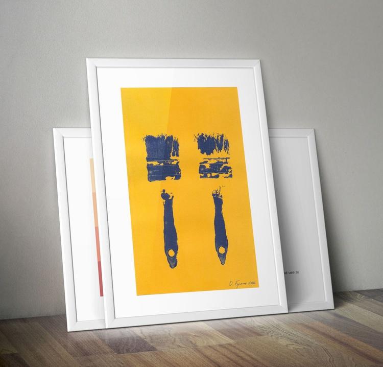 """2 Blue Brushes 2_1/2"""" on a senape - Image 0"""