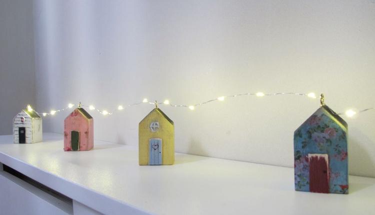 beach hut fairy lights LED battery run - Image 0