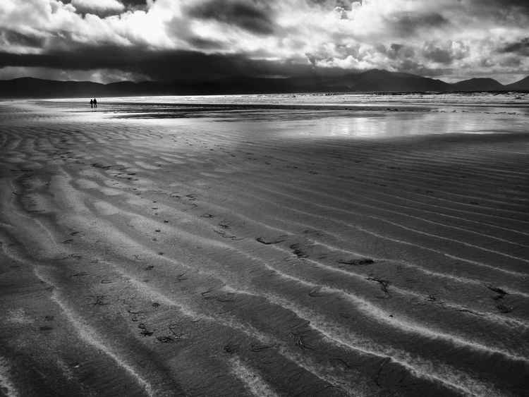 I lingered in the sun - (Inch Beach, Ireland) - B&W - 11x14