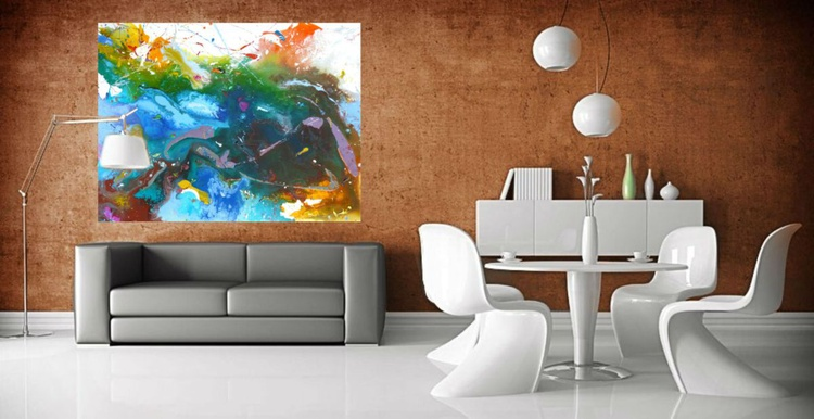 Abstract painting.  130x100 cm - Image 0
