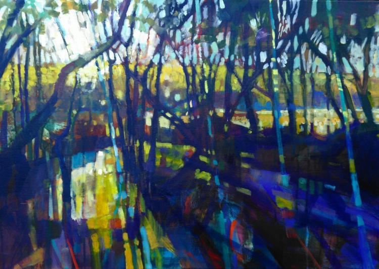 Through the Trees, Cardigan Marshes - Image 0