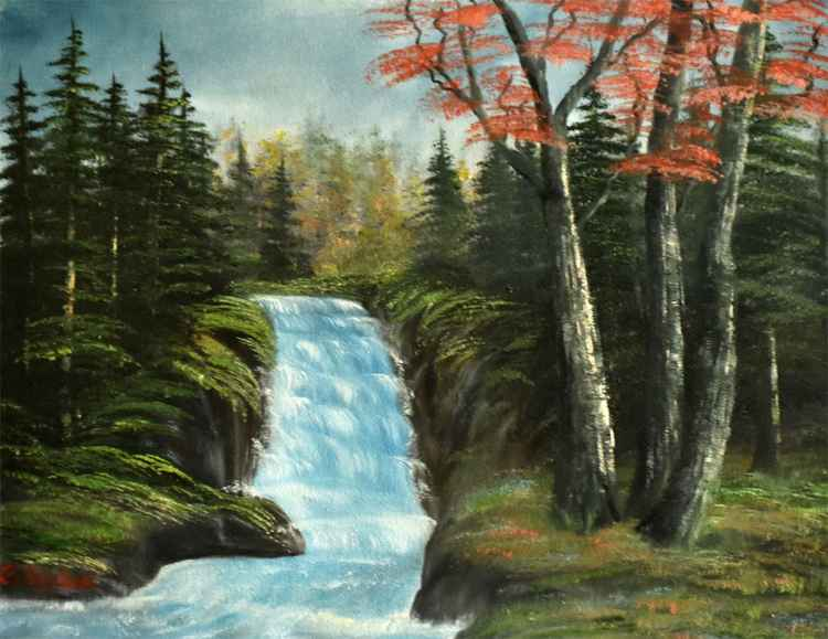 Waterfall in Forest series 2 -