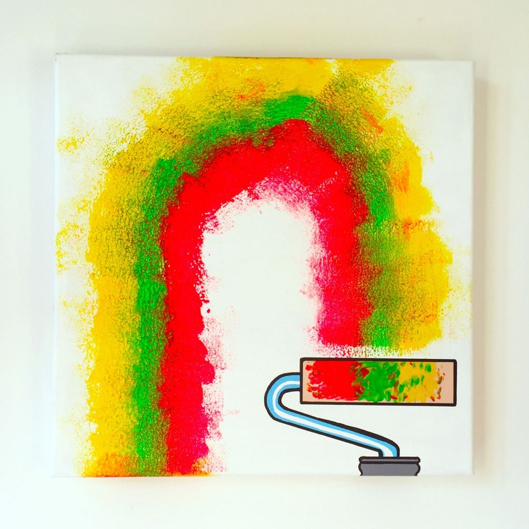 Paint Roller Pop Art Canvas - Image 0