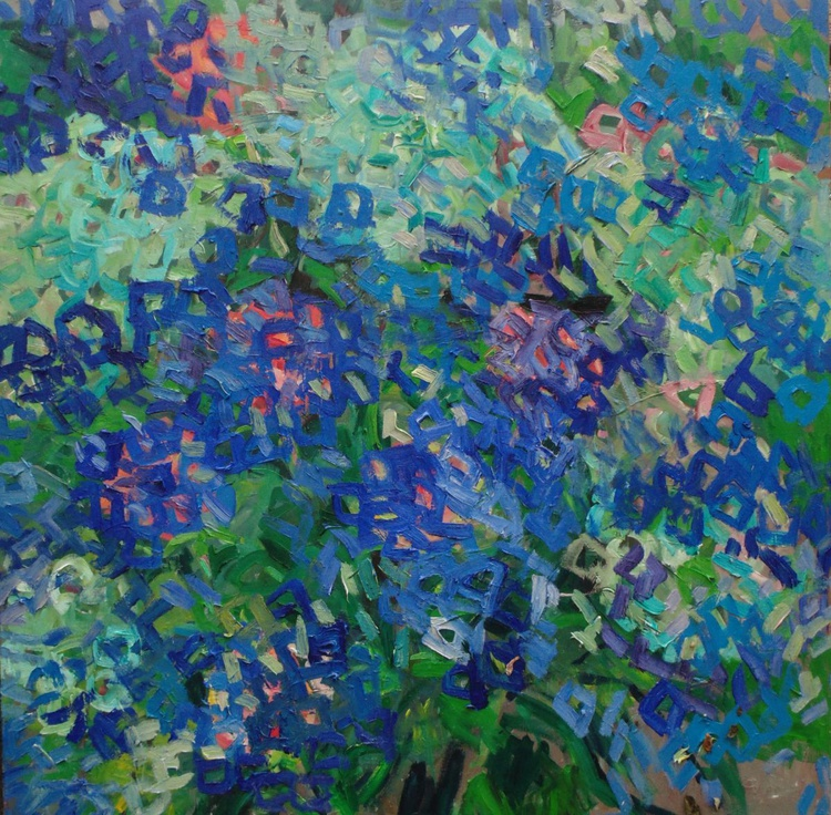 Thinking about blue flowers - Image 0