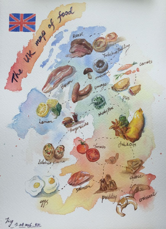 UK Map of Food - Image 0