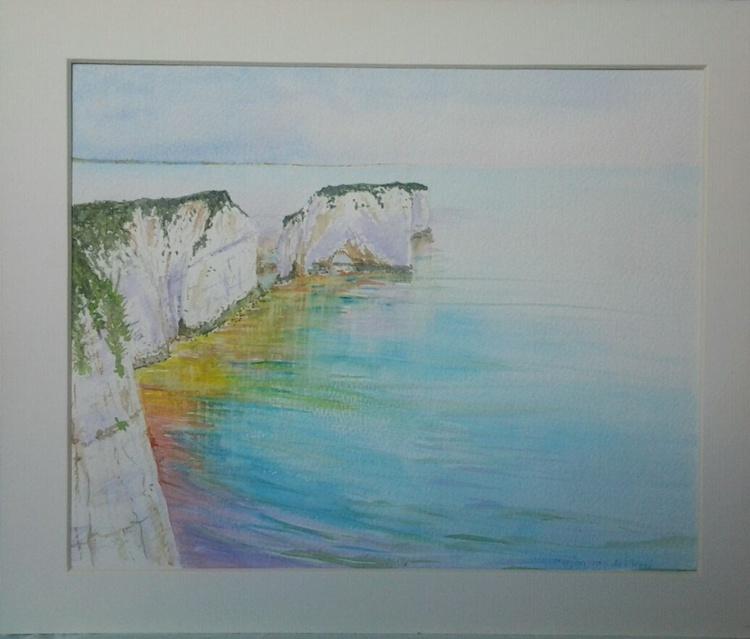 """Old Harry Rocks"", 25.5x20.5cm, watercolour - Image 0"