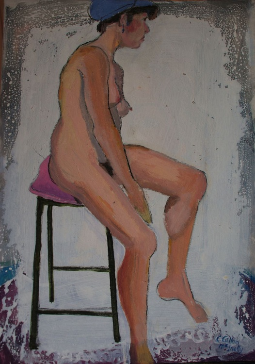 Nude girl with cap - Image 0