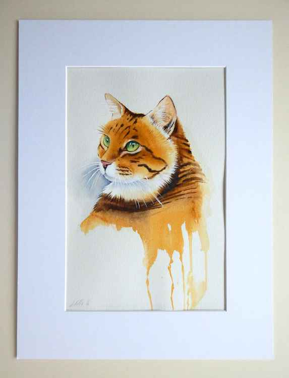 Tabby Cat Painting -