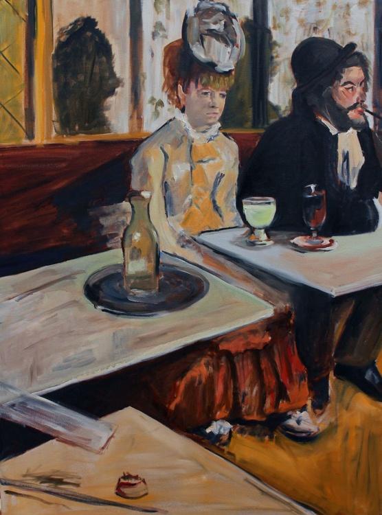 "Study of Degas ""Absinthe Drinkers"" - Image 0"