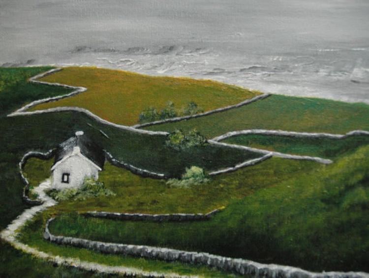 Irish Landscape Small Painting - Image 0