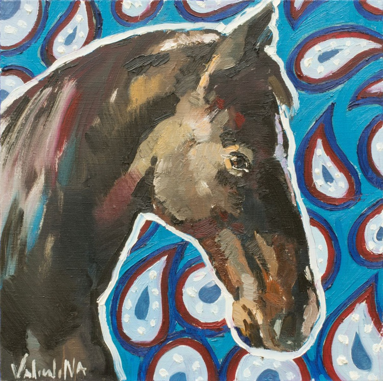 Horse painting Original oil painting on canvas - Image 0
