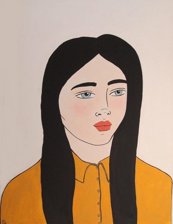 Girl in a Mustard Shirt - Image 0