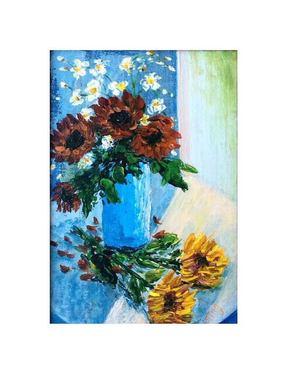Red sunflower - Image 0