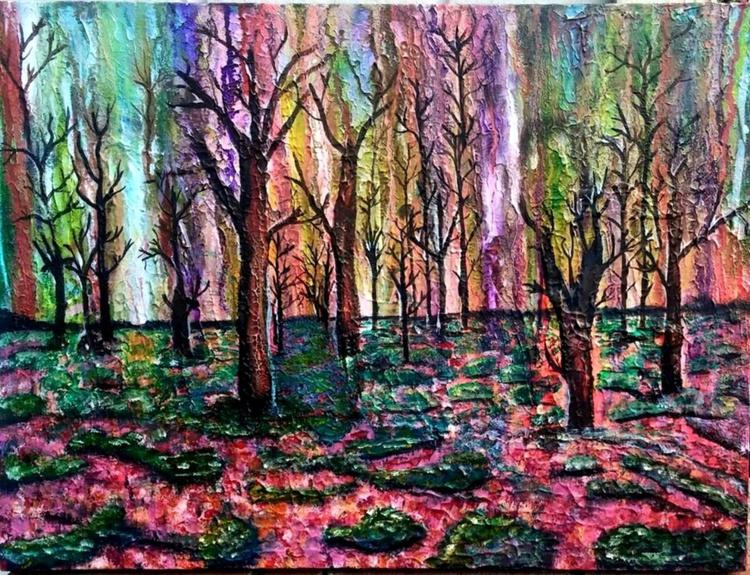 Untitled Original Mixed Media Landscape painting - Image 0
