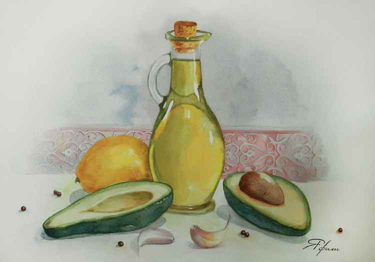 Olive oil and avocado -