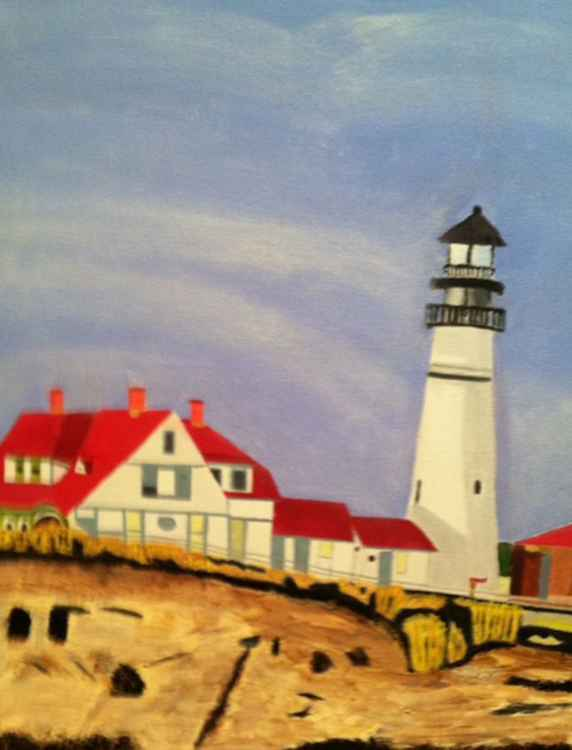 Lighthouse in Portland, Maine -
